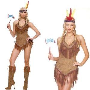 Native American/Indian Girl Halloween Costume S/M